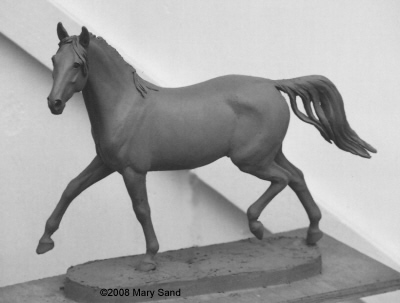 Horse sculptures and statues by Mary Sand : Arabian horse statue