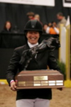 Horse Show Trophies : Beezie Madden with Judgement ISF Perpetual Trophy