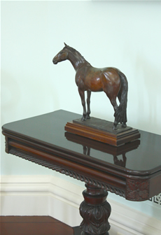 Commissioned bronze sculpture of Thoroughbred Horse