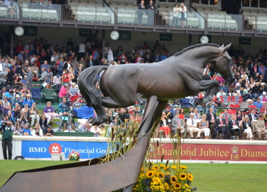 Hickstead Statue Unveiled at Spruce Meadows to honor legendary Show Jumping Stallion Hickstead