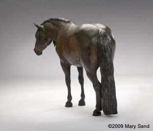 Bronze horse sculpture of Andalusian Percheron cross : Commissioned by owner