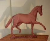 New dressage horse sculpture to be cast in bronze soon.