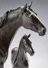 Horse Sculpture of Mare and Foal